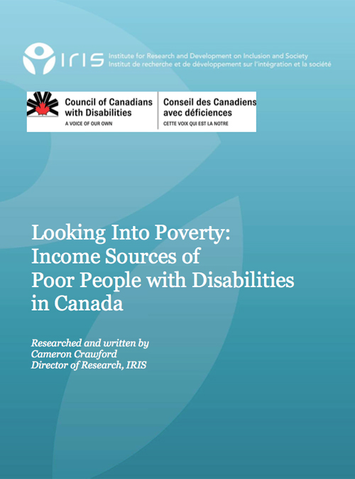 Looking Into Poverty - Income Sources of Poor People with Disabilities in Canada